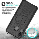 SKTGSLAMY New High Quality Galaxy A20/Galaxy A30/Galaxy A50 Case, [Shockproof] Tough Rugged Dual Layer Protective Case Hybrid Kickstand Cover for Samsung Galaxy A20/A30/A50 (Black) USA Imported Product