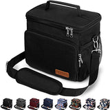 LEAKPROOF & WATERPROOF Insulated Lunch Bag for Women/Men - Reusable Lunch Box for Office Work School Picnic Beach - Leakproof Cooler Tote Bag Freezable Lunch Bag with Adjustable Shoulder Strap for Kids/Adult - Black USA Imported Product - EY Shopping