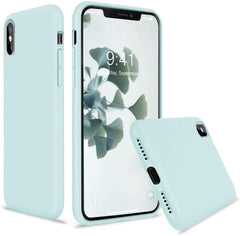 High Quality Vooii iPhone Xs Case, iPhone X Case, Soft Liquid Silicone Slim Rubber Full Body Protective iPhone Xs/X Case Cover (with Soft Microfiber Lining) Design for iPhone X iPhone Xs - Lavender Grey USA Imported Product - EY Shopping