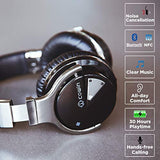 COWIN Professional Active Noise Cancelling Technology, E7 Active Noise Cancelling Headphones Bluetooth Headphones with Microphone Deep Bass Wireless Headphones Over Ear, 30 Hours Playtime for Travel/Work, Comfortable Protein Earpads, Black, USA Imported