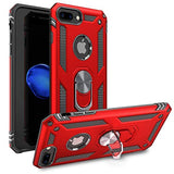 High Quality iPhone 7 Plus Case | iPhone 8 Plus Case [ Military Grade ] 15ft. Drop Tested Protective Case | Kickstand | Compatible with Apple iPhone 8Plus / iPhone 7 Plus- Red USA Imported Product - EY Shopping