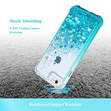 New Style Case Cover for iPhone Ruky iPhone 6 6s 7 8 Case, Glitter Clear Full Body Rugged Liquid Cover with Built-in Screen Protector Shockproof Heavy Duty Girls Women Case for iPhone 6 6s 7 8 4.7 inches (Gradient Teal) USA Imported Product - EY Shopping