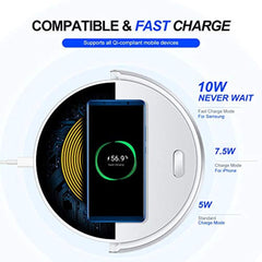 New High Quality LC.IMEEKE Wireless Charger, with LED Desk Lamp, 5W / 7.5W / 10W Qi Wireless Charging Station Inductive Charger for iPhone 11/ XS/MAX/XR/X / 8 Plus/Galaxy S10 / Note 9 / S9 / Huawei P30 Pro etc USA Imported Product - EY Shopping