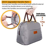 Larger Capacity&Durable Handle BALORAY Lunch Bag Cooler Bag Large Durable Insulated Water-resistant Lunch Bags for Women and Men Fashionable Lunch Box for women/Picnic/Boating/Beach/Fishing/Work USA Imported Product - EY Shopping