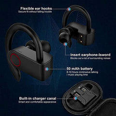 High Quality Upgrade Bluetooth Earbuds 5.0 Bluetooth Headphones with Charging Case,8-10H Playtime Wireless Earbuds, IPX8 Waterproof, CVC Noise-Canceling Headphones with Built-in Microphon for Sports,Workout,Gym USA Imported Product - EY Shopping