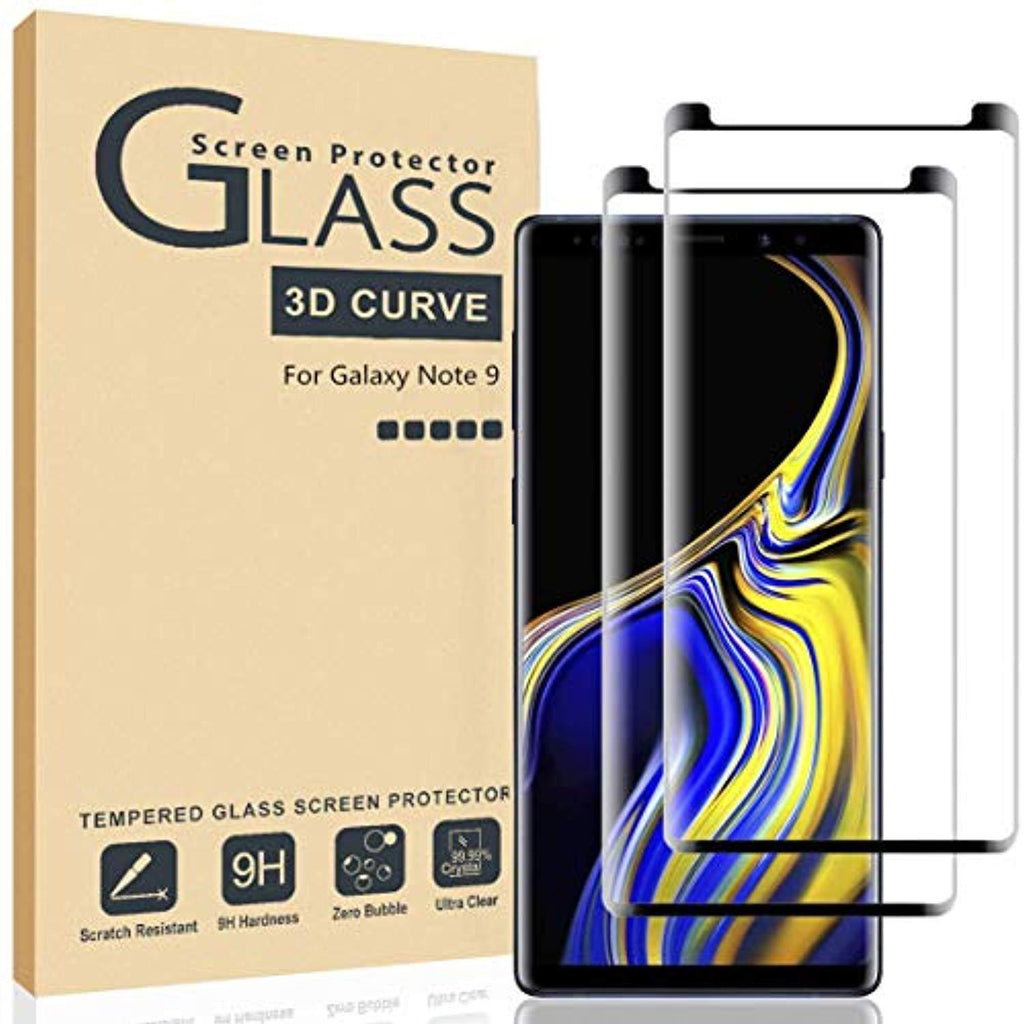High Quality HD Clear screen protector Ahker Galaxy Note 9 Screen Protector, [2Pack] [Tempered Glass] [Scratch-Resistant] [Anti-Fingerprint][No-Bubble] [Case Friendly] Glass Screen Protector for Samsung Galaxy Note 9 USA Imported Product - EY Shopping