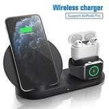 High Quality Wireless Charger for AirPods Pro, Coobetter 3 in 1 Wireless Charging Station,Wireless Charging Stand Watch Charger Compatible with iPhone 11/11 pro /11 Pro Max/Xs/XS Max/XR/X / 8 /8P USA Imported Product - EY Shopping