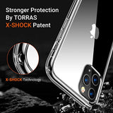 High Quality TORRAS Diamonds Clear iPhone 11 Pro Max Case, [Anti-Yellowing][Fully Protective] Slim Fit Shockproof Hard Plastic Back & Soft Silicone Bumper Hybrid Cover Phone Case for iPhone 11 Pro Max, Transparent USA Imported Product - EY Shopping