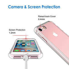 High Quality JETech Case for Apple iPhone 8 and iPhone 7, 4.7-Inch, Shock-Absorption Bumper Cover, Anti-Scratch Clear Back, HD Clear USA Imported Product - EY Shopping