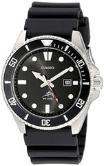 Black Stainless Steel case and Resin Band Casio Men's MDV106-1AV 200M Duro Analog Watch, Black USA Imported Product