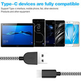 Fast Charging cable of USB Type C Cable 5 Pack (3/3/6/6/10FT), Nylon Braided USB C Cable Fast Charger Charging Cord Compatible Samsung Galaxy S9 S8 Note 9 Note 8 Plus,LG V30 G6 G5 V20,Google Pixel, Moto Z2-Black & White USA Imported Product