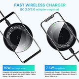 High Quality INIU Wireless Charger, 10W Fast Charging Qi-Certified Type C Wireless Charging Pad Compatible with iPhone 11/11 Pro/11 Pro Max/XS Max/XR/XS/8 Plus/8 Samsung Note 10/S10/S10 Plus/S9/S8 (No AC Adapter) USA Imported Product - EY Shopping