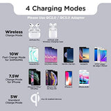High Quality Wireless Charger Fast Qi Certified, 10W Max Wireless Charging Pad, 7.5W for iPhone 11/11 Pro/11 Pro Max/XS MAX/XR/XS/X/8, 10W for Samsung Galaxy Note 10/S10/9/S9/8/S8, Apple AirPods Pro(No AC Adapter) USA Imported Product - EY Shopping