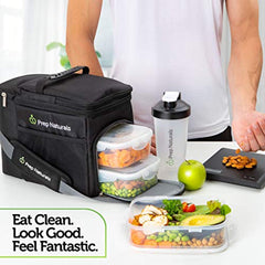 Bag is completely waterproof Meal Prep Bag Meal Prep Lunch Box - Meal Prep Insulated Lunch Bag for Men - Meal Prep Cooler Bag with Containers - Insulated Mens Lunch Box for Men Lunch Bags for Women Men's Lunch Bag For Work Adult USA Imported Product - EY Shopping