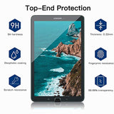 High Quality HD Clear screen protector Tempered Glass Screen Protector for Samsung Galaxy Tab E 9.6 Screen Protector (SM-T560 / T561 / T565 / T567), [Case Friendly] [9H] Anti-Scratch, Bubble Free, HD Clear, Lifetime Replacement [2 Pack] USA Imported Produ - EY Shopping