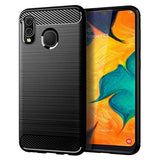 MAIKEZI New High Quality Samsung A20 case, Galaxy A20 Case, Galaxy A30 Case, Soft TPU Slim Fashion Anti-Fingerprint Non-Slip Protective Phone Case Cover for Samsung Galaxy A20/A30(Black Brushed TPU) USA Imported Product