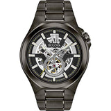 New Sport style in gunmetal IP stainless steel case Bulova Men's Automatic - 98A179 USA Imported Product - EY Shopping