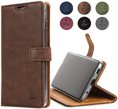 New High Quality Samsung Galaxy S20 Ultra Case, Genuine Leather Wallet with Viewing Stand and Card Slots, Flip Cover Gift Boxed and Handmade in Europe for Samsung Galaxy S20 Ultra - (Brown) USA Imported Product