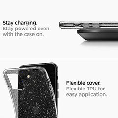 High Quality Spigen Liquid Crystal Glitter Designed for Apple iPhone 11 Case (2019) - Crystal Quartz USA Imported Product - EY Shopping