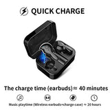 High Quality Wireless Earbuds, AMINY U-Winner Bluetooth 5.0 True Wireless Bluetooth Earbuds with Charging Case 20H Play time 3D Stereo Sound Wireless Headphones for iOS Android, Built-in Microphone USA Imported Product - EY Shopping