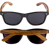 Woodies Wooden Sunglasses with Black Polarized Lens in Walnut Wood plastic frame anti-reflective lens high quality product USA Imported Product - EY Shopping