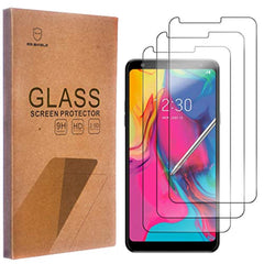 Include 3 PCS Tempered Glass Screen [3-Pack]-Mr.Shield for LG Stylo 5 [Tempered Glass] Screen Protector with Lifetime Replacement USA Imported Product