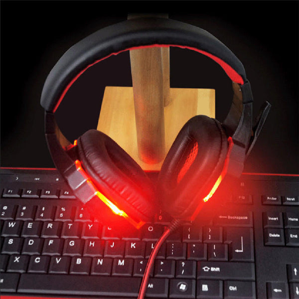 PLEXTONE PC780 LED Light Noise-cancelling Game Headset HD Mic Over-ear Headphone for PC Laptop Phone