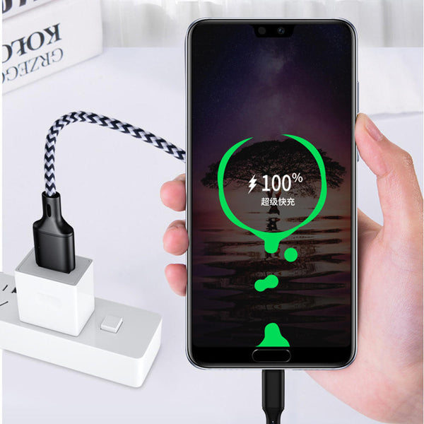 Bakeey 5A Type C Nylon Braided Fasting Charging Data Cable For Xiaomi Mi8 Mi9 HUAWEI P20 P30 S9 Note S10 S10+