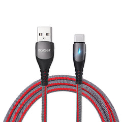 Bakeey BK1 3A QC3.0 Type C LED Quick Charging Data Cable For Xiaomi K30 5G HUAWEI Mate30 5G Oneplus Pocophone Note 10+ 5G