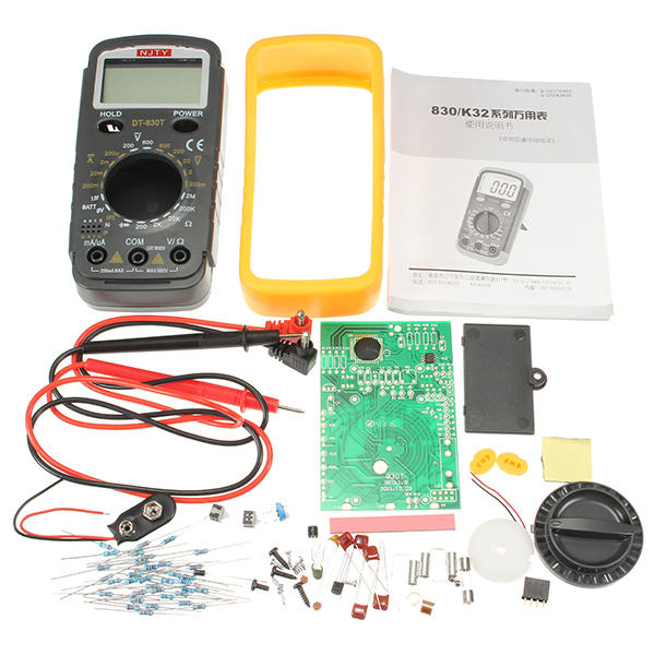 DIY DT-830T Digital Multimeter Electronic Training Kit