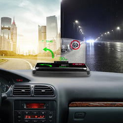 Bakeey Universal 10W Fast Charging Qi Wireless Charger Car Windshield Mirror HUD Head Up Display Phone Holder For Phone below 6.5 inch for iPhone GPS DH42