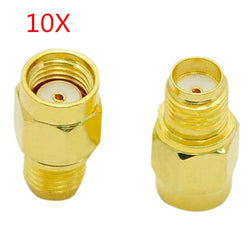 10pcs SMA Female To RP-SMA Male Adapter Connector for RC Drone FPV Racing