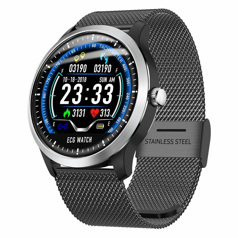 Bakeey N58 ECG Heart Rate Monitor Wristband Health Care 3D UI Multi-sport Fitness Tracker Smart Watch