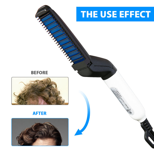 Multifunctional Hair Comb Brush Beard Straightener Styling Accessories Straight hair Curler Styling tools Men Beard Comb