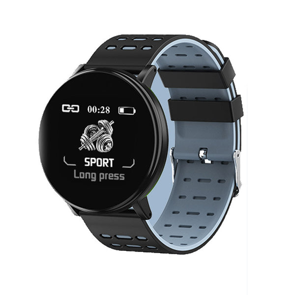 XANES Y19 1.3in 2.5D Glass Touch Screen Blood Oxygen Heart Rate Monitor Smart Watch IP68 Waterproof Multiple Language Sports Bracelet Fitness Tracker