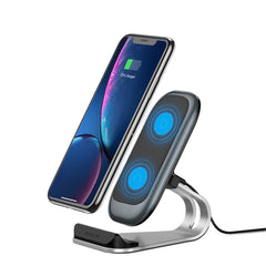 KUULAA 10W 7.5W 5W Fast Charing Qi Wireless Charger Dock Station Phone Holder For iPhone 8Plus XS 11 Pro Huawei P30 Pro Mate 30 5G Xiaomi Mi9 9Pro 5G