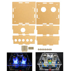 Transparent Acrylic Housing Shell For 6J1 Tube Preamplifier Amplifier Module Case