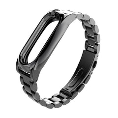 Mijobs Replacement Metal Stainless Steel Frame Bracelet Wristband For Miband 2