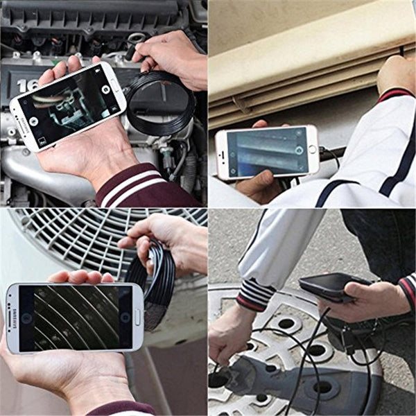 Wireless Borescope 8mm 8Led HD1080P 1000mAh Wifi USB Borescope IP68 Waterproof Inspection Camera