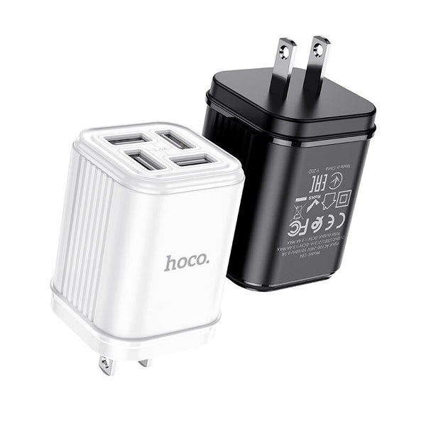 HOCO C84 4 USB 3.4A US Wall Charger for Samsung S20 Huawei P30 P40 Pro Xiaomi Mi10 Redmi Note 9S S20+