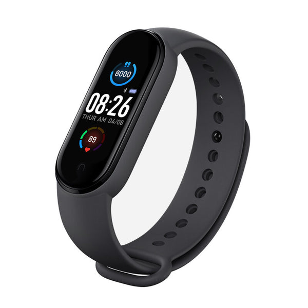 Bakeey M5 Continuous Blood Pressure Oxygen Monitor Wristband Message APP Push Fitness Tracker Color Screen Smart Watch