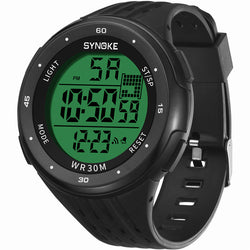 SYNOKE 9007 Sport Men Watch 3ATM Waterproof Luminous Display Electronic Large Dial Digital Watch