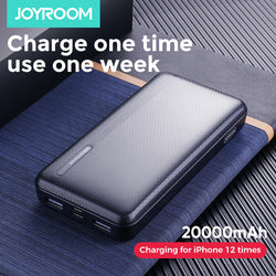 JOYROOM Power Bank 20000mAh LED Display 2 USB Power Supply With Mico USB Type-C Input Fast Charging For iPhone XS 11Pro Huawei P30 P40 Pro Xiaomi Mi10 Oneplus 8Pro