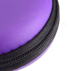 Small Round Carrying Storage Bag Case For Earphone Cable