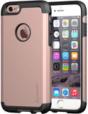 New Style Case Cover for iPhone iPhone 6s Case, LUVVITT [Ultra Armor] Shock Absorbing Case Best Heavy Duty Dual Layer Tough Cover for Apple iPhone 6 / iPhone 6s - Black/Rose Gold USA Imported Product - EY Shopping