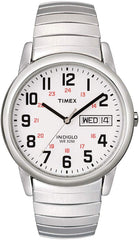 Timex Men's Easy Reader Day-Date Expansion Band Watch Brushed Silver-Tone Stainless Steel Expansion Band USA Imported Product - EY Shopping
