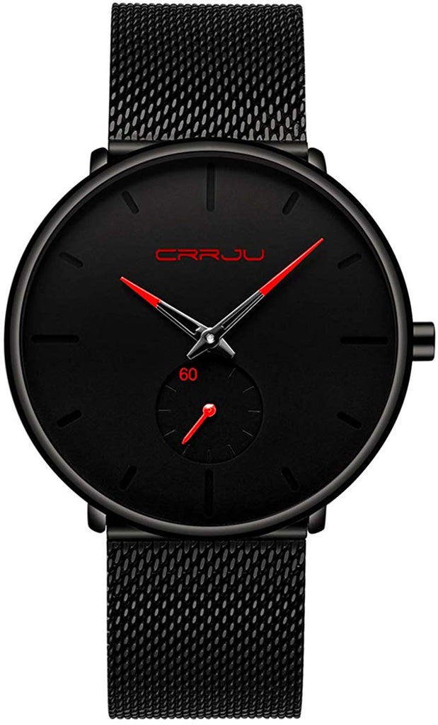 USA Imported Product, Minimalist watches design Mens Watch Ultra Thin Wrist Watches Waterproof Dress Stainless Steel Band for Men Fashion