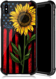 New Style Case Cover for iPhone iPhone Xs Max Case,Sunflower Rose Pattern Tempered Glass iPhone Xs Max Cases for Girls [Anti-Scratch] [Anti Fall] Elegant and Luxury Design Cover Case for iPhone Xs Max(6.5 inch)USA Imported Product - EY Shopping