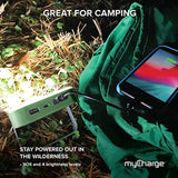 High Quality myCharge Camping Lantern Power Bank - 10,000 mAh Adventure Portable Charger | Rechargeable LED Phone Charger Battery Pack | 2 USB Ports / 2.4A Max | 40 HR Lamp Runtime / 4 Light Settings USA Imported Product - EY Shopping