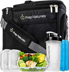 Meal Prep Bag Meal Prep Lunch Box - Meal Prep Insulated Lunch Bag for Men  containers are freezer, microwave and dishwasher - Meal Prep Cooler Bag with Containers - Insulated Mens Lunch Box for Men Lunch Bags for Women Men's Lunch Bag For Work Adult USA I - EY Shopping